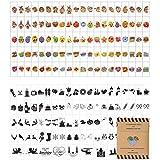 Symbole für Lightbox – 200 kreative Emojis Sticker als Ergänzungsset mit bunte & schwarze...