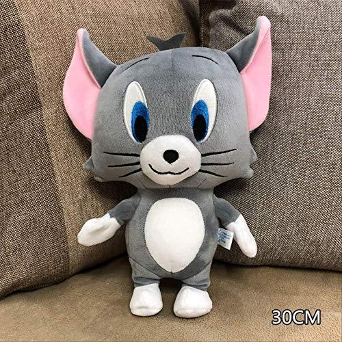 nobrand Peluche,Anno del Ratto Figurina di Topo Gatto E Topo Gatto E Topo Peluche Schiuma Nanoparticelle Bambola di Pezza 30cm Gatto