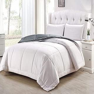 Duck River Textiles SAMANTHA 10558D=1 Samantha Twin 2Pc Comforter Set /Whitedark Grey,Twin