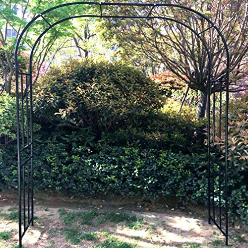 S-AIM Garden Arch, Metal Garden Arbor for Various Climbing Plant, Outdoor Garden Lawn Backyard, Assemble Freely
