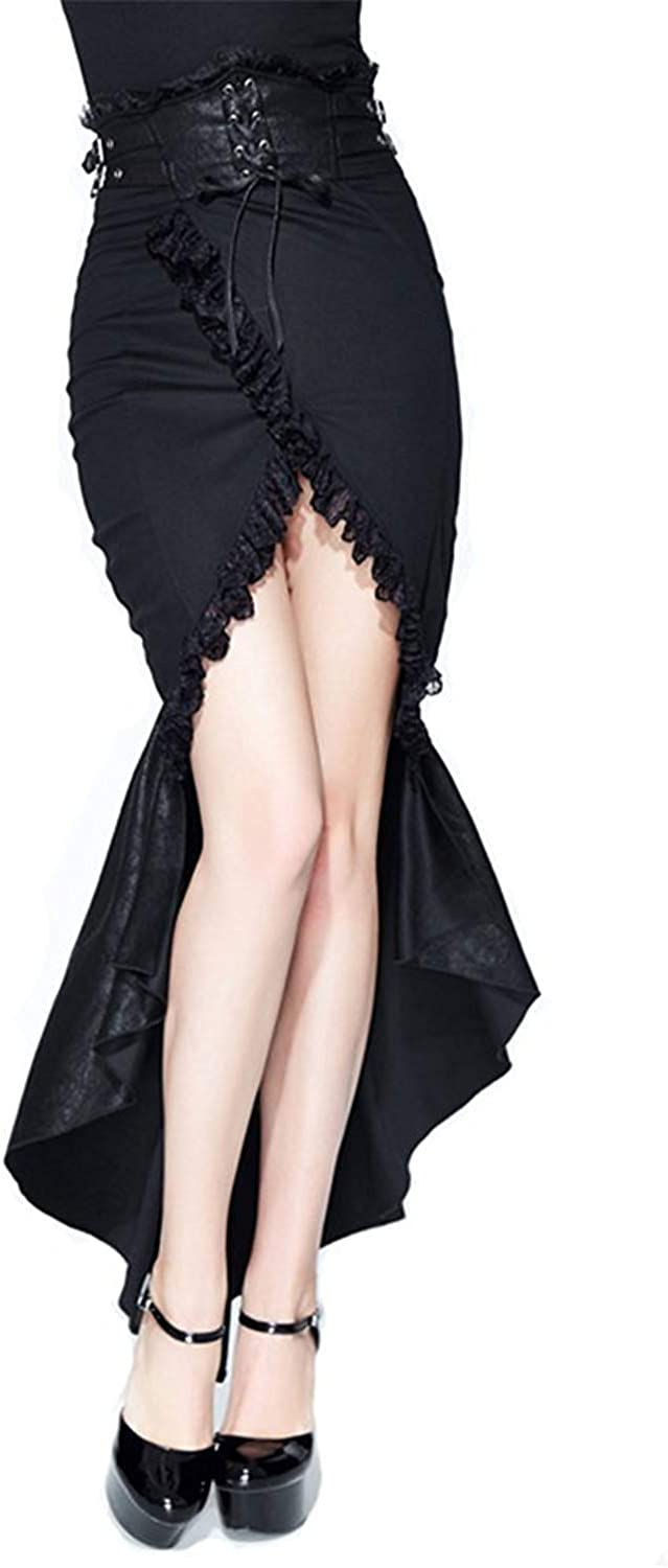 Devil Fashion Steampunk Women Victorian Gothic Lace Party Skirt Women's Vintage Sexy Dress