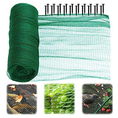 YTW Vogelschutznetz, Teichnetz, Laubnetz, Gartennetz, Pool Netz für Garten, Balkon oder Teich Kirschbaum, robust, Maschenweite 15 mm(4×12m)