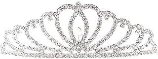 Frcolor Tiara scintillante Princess Accessori per capelli per matrimoni nuziali