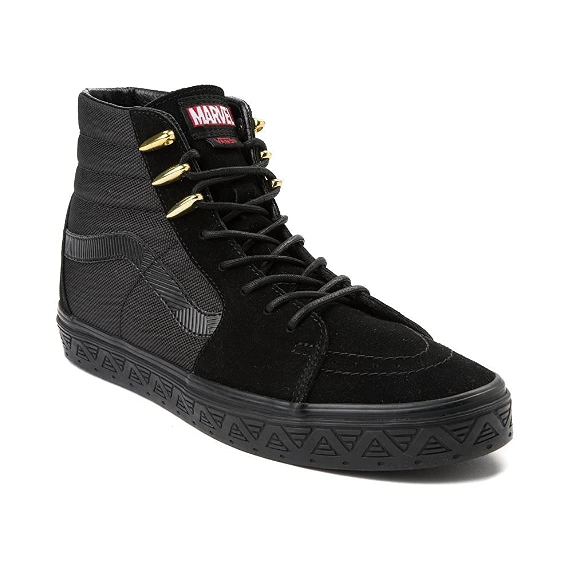 に沿って知っているに立ち寄る睡眠[バンズ] スケートハイ アベンジャーズ?靴?ハイカットスニーカー Sk8 Hi Marvel Avengers Black Panther Skate Shoe US Men's 6.5/Women's 8(メンズ24.5cm/レディース25cm) [並行輸入品]