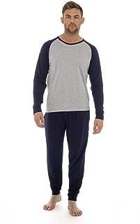 comprar comparacion Pijama Hombre Invierno Sudadera Gimnasio 100% Algodón Mangas Largas Set Suave Cómodo Ropa de Dormir