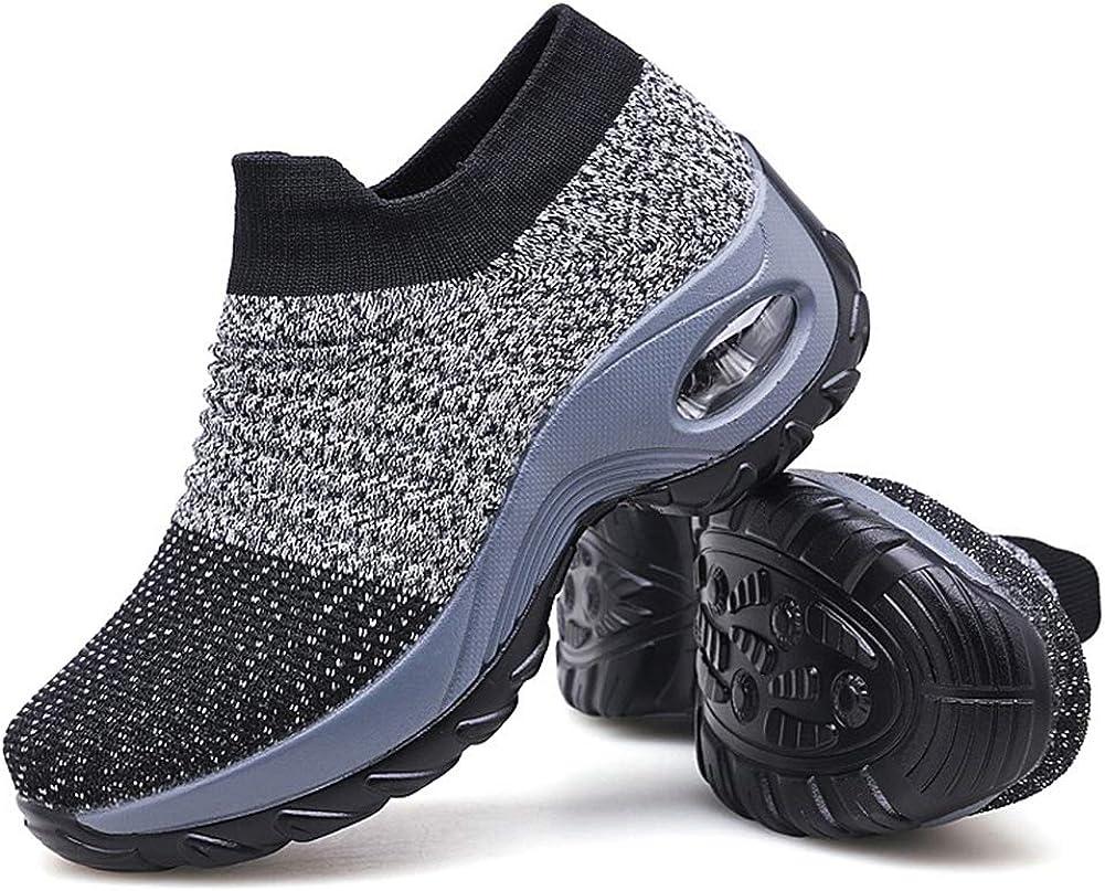 Women's Walking Shoes Louisville-Jefferson County Mall Sock Sneakers Kansas City Mall - Mesh Air Slip L On Cushion