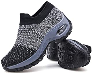 Women's Walking Shoes Sock Sneakers - Mesh Slip On Air...