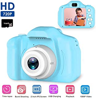 TWISHA ENTERPRISE Kids Camera,Digital Camera for Kids Gift Camera for Kids 3-10 Year Old Mini 2.0 Inch Screen HD 1080P Video Recorder Children Toy Camera Color Pink,Blue