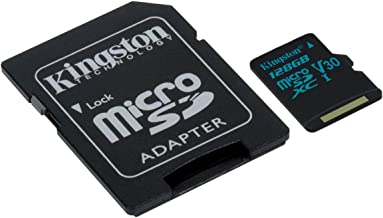Kingston Canvas Go! 128GB microSDXC Class 10 microSD...