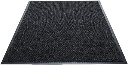 Guardian Golden Series Chevron Indoor Wiper Floor Mat, Vinyl/Polypropylene, 4'x6', Charcoal