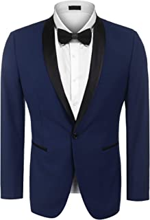 Men's Modern Suit Jacket Blazer One Button Tuxedo for Party,Wedding,Banquet,Prom