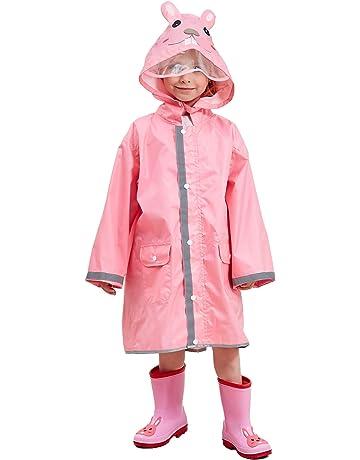 KIDS TRESPASS impermeabile Twister Giacca con Cappuccio Bambina Pioggia Cappotto 3-12yrs