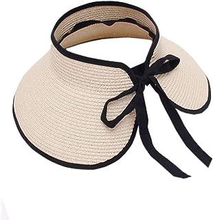 XueXian Women's Ladies Wide Brim Sun Hat Visor Beach Hat Straw Hat