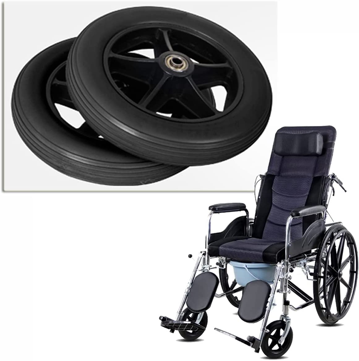 2 PCS Disabled Wheelchair Wheels Walker Don't miss At the price of surprise the campaign Replacement