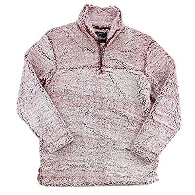 Express Design Group Sherpa Quarter Zip Pullover Small Snowy Garnet by Greekgear