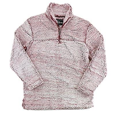 Express Design Group Sherpa Quarter Zip Pullover Small Snowy Garnet by Greekgear