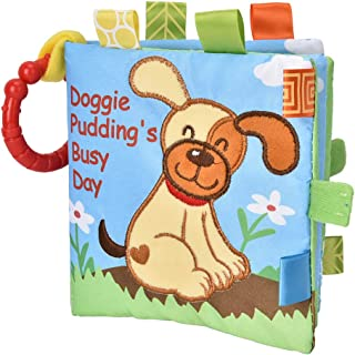 Cloth Book Toy, Rattles Book Toy Cloth Book Built-in Sounder Reusable for 6 Months and Elder(Puppy)