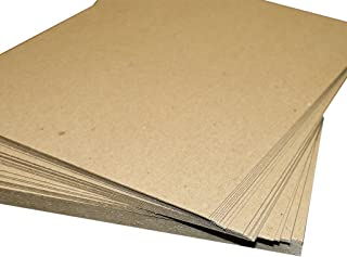 "Secure Seal 8.5x11 Chipboard Pads Brown Scrapbooking Sheets 22PT (.022"") Light Weight (Pack of 200)"