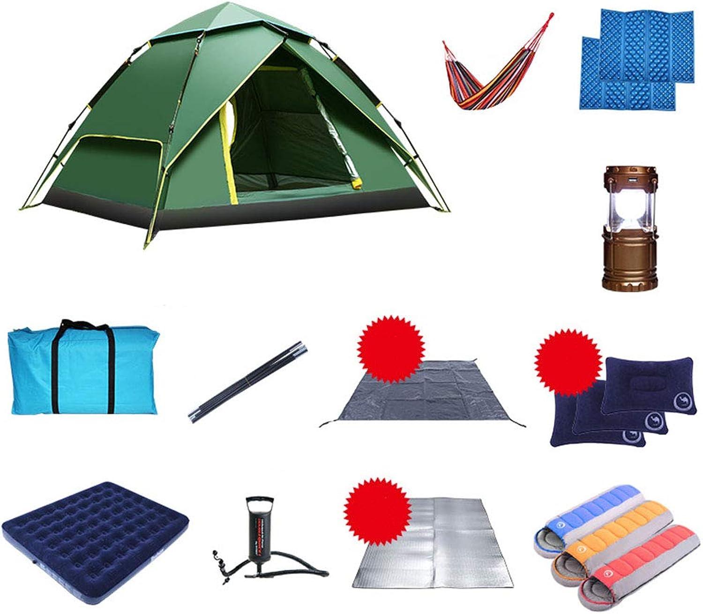 LHLCG Campingzelt, Zelte im Freien, Matte, Aufblasbares Bett, Hngematte, Schlafsack,C