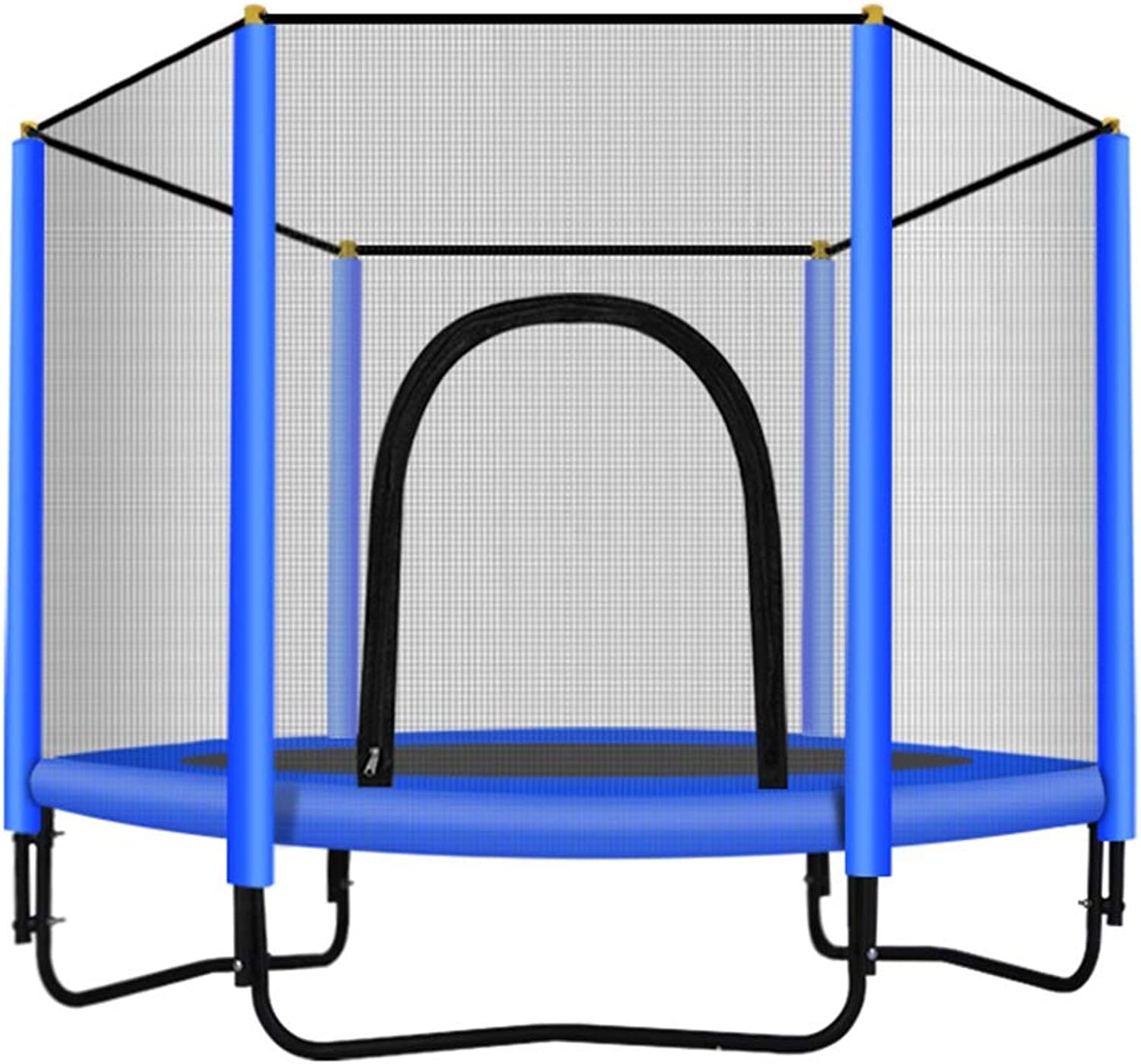 blueee Trampoline for Boys  Adult Kids Heavy Duty Jumping Mat with Enclosure Net, 200kg   440 pounds, 150cm  59 inch (color   blueee)