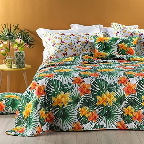 Caleffi Couvre-lit matelassé léger pour lit Double