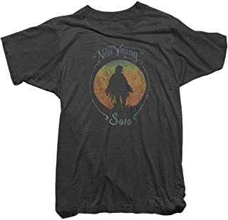Neil Young T-Shirt - Neil Young Solo Tee - 100% Organic - Officially Licensed