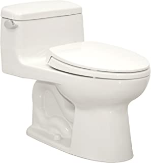 Supreme One-Piece Elongated Toilet 1.28 GPF Cotton with SoftClose seat