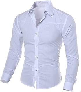 Mens Shirts Clearance Sale Men Fashion Printed Blouse Casual Long Sleeve Slim Shirts Tops
