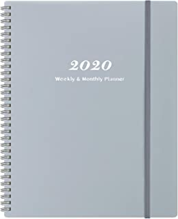 2020 Planner - Weekly & Monthly Planner with Tabs, Elastic Closure and Thick Paper, Back Pocket with 21 Notes Pages, 9