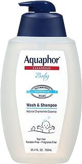 شستشوی کودک و شامپو Aquaphor - محلول خفیف ، بدون اشک اشک 2 در 1 برای پوست حساس کودک - 25.4 fl. اوز تلمبه
