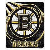 NHL Boston Bruins 'Puck' Sherpa Throw Blanket, 50' x 60'