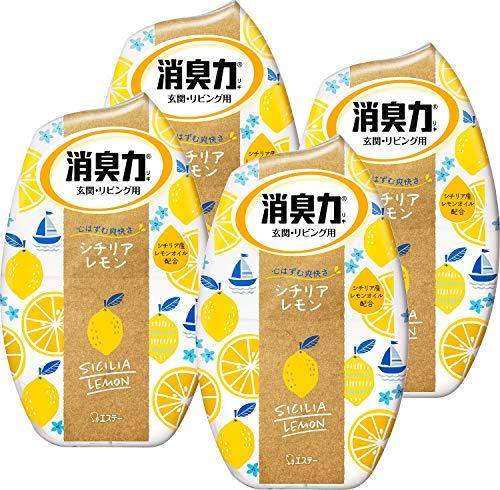 【まとめ買い】 お部屋の消臭力 部屋用 シチリアレモン 400ml×4個 部屋 玄関 リビング 消臭剤 消臭 芳香剤