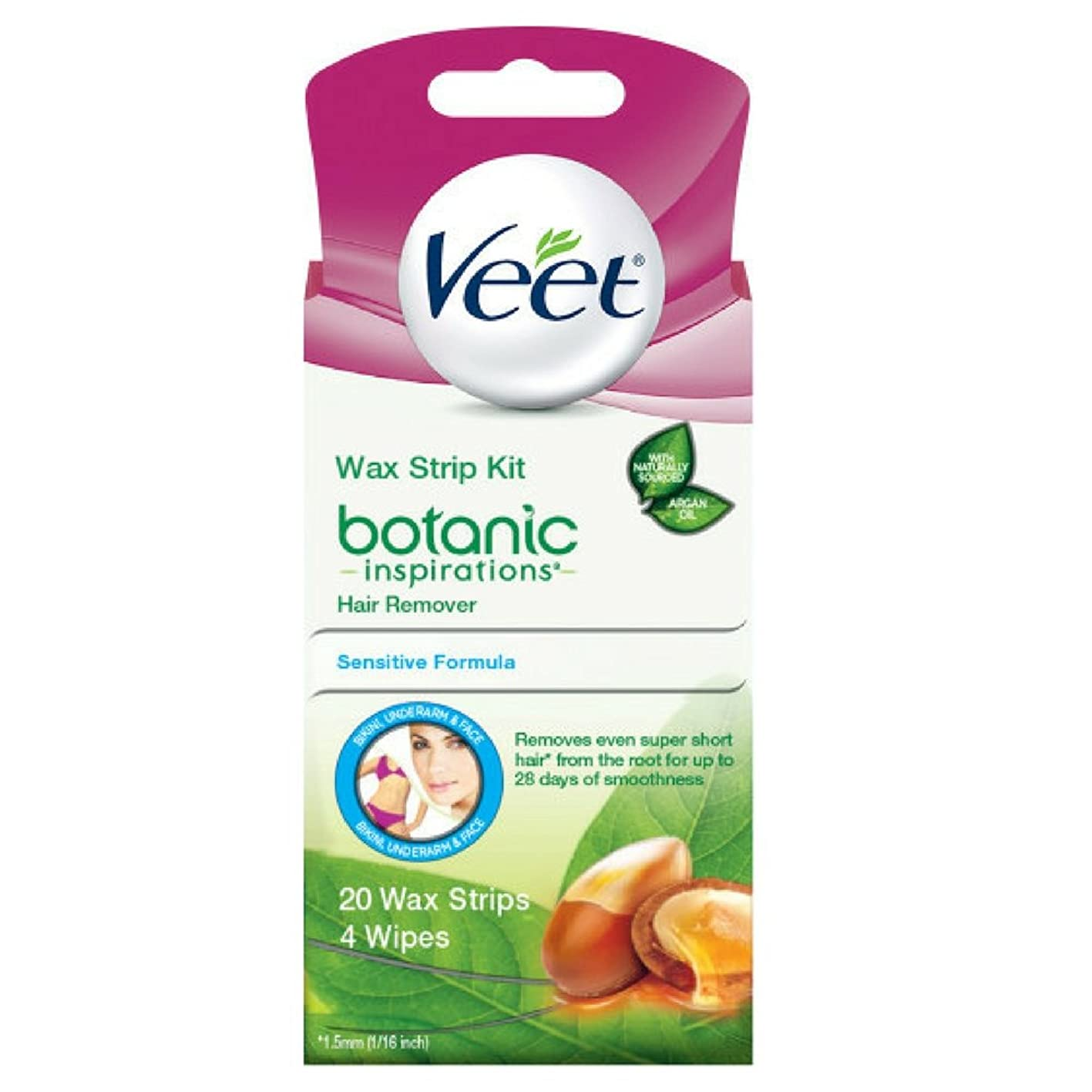 Veet Ready-To-Use Wax Strips Hair Remover - 20 CT uorjnvsbjpy550