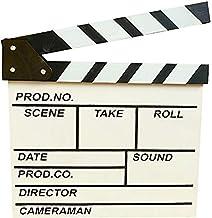 BERON Professional Vintage TV Movie Film Clap Board Slate Cut Prop Director Clapper (White)