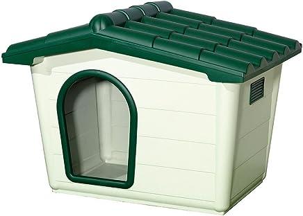 Saturnia 21030395 - Caseta perro resina, 80 x 56 x 60 cm