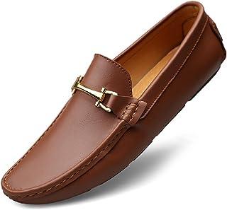 [ファイン?ショップ] カジュアルシューズ メンズ 24.0cm-27.5cm ローカット 耐久性 柔らかい 歩きやすい 滑り止め お洒落 スリッポン メンズシューズ ビジネスシューズ ドライビングシューズ 紳士靴 男性用靴 就職活動 ブラック/ブラウン/茶色
