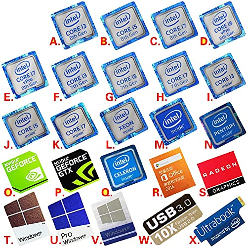 PMSMT Variedad al por Mayor de Opciones Originales 6 7 8a generación i3 i5 i7 celeron Intel xeon pentium procesador Dolby Sticker