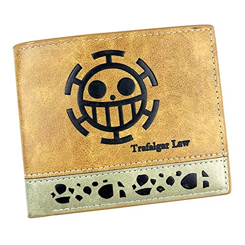 Desconocido One Piece Billetera para Niños Cuero Sintetico Trafalgar Logo - 12 x 10 cm