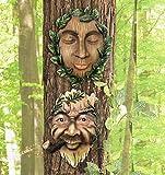 CTD Store Vineyard Tree Face Couples, A Set of 2 Fun Outdoor Garden Decor