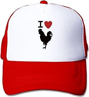 8baad310c22 ForRose I Love Cock Retro Slogan Unisex Mesh Hat Baseball Caps Style Grid  Hat Adjustable Trucker