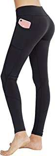 Keolorn High Waist Yoga Pants with Pockets Tummy Control Workout Leggings for Women 4 Way Stretch Leggings with Pockets