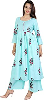Women's Cotton Kurti With Palazzo Pant Set for girls & women