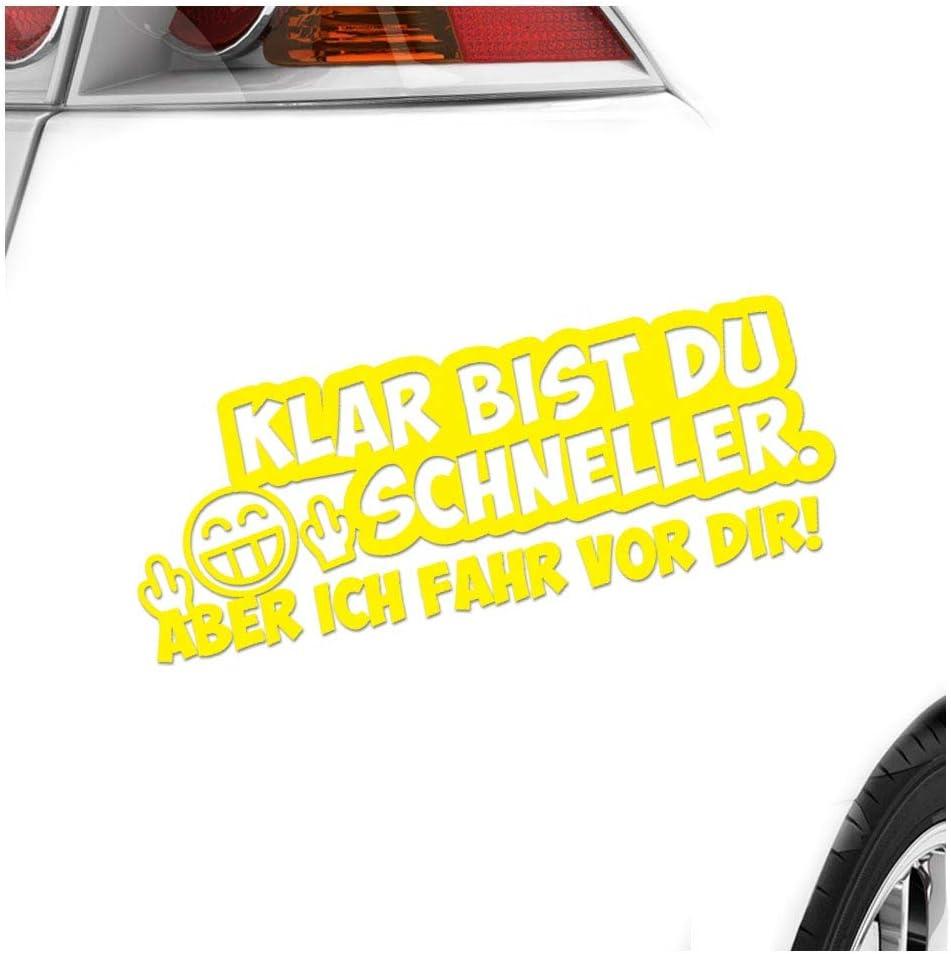 Kiwistar Klar Bist Du Schneller 20 X 7 5 Cm In 15 Farben Neon Chrom Sticker Aufkleber Auto