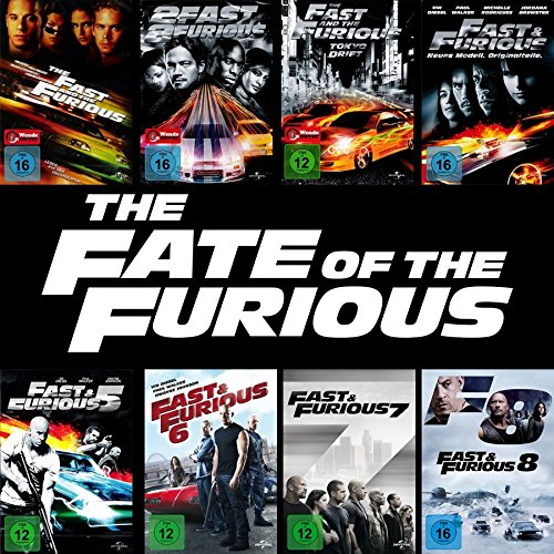 Fast and the Furious 1 - 8 Collection [8er DVD-Set] Keine Box
