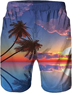 3D Tree Printed Trouser Casual Work Shorts Summer Surf Swimming Beach Short
