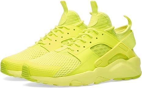 Nike Air Huarache Ultra Breathe Men's Trainers, Yellow Mesh FLUO ...