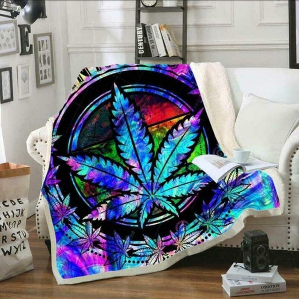 HUISHEDEA 3D Weeds Blanket for Outlet Regular discount ☆ Free Shipping Beds Quilt Hiking Fa Thick Picnic