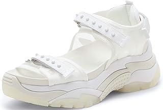 ASH Women's Ace High Platform Sandal Sneaker Casual Walking Open Toe Shoes for Travel/Walking/Casual/Beach