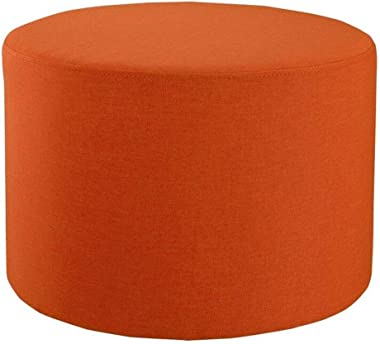 Carl Artbay Wooden Footstool Orange Rubber Wood + Sponge Shoes for Shoe Stool Coffee Table Low Stool Comfortable and Breathable Home
