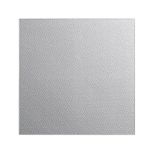 DECOSA Styropor Deckenplatten TURIN in Putz Optik - 40 Platten = 10 m2 - Edle Deckenpaneele weiß - Dekor Paneele 50 x 50 cm - Decken Styroporpaneele